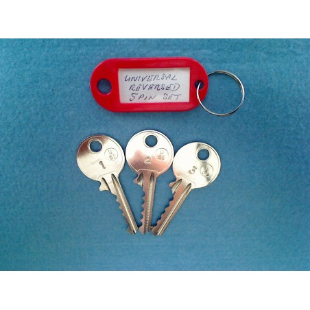 Reversed universal 5 pin bump key set (3 x left keys)
