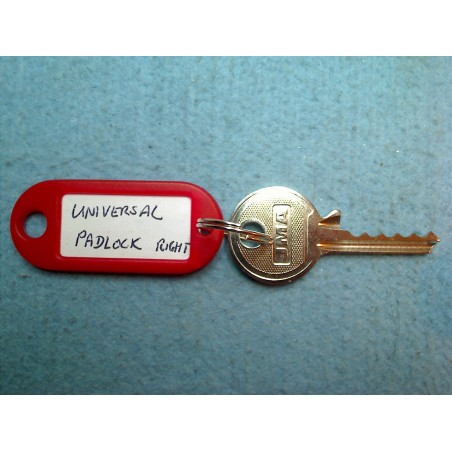 Universal 5 pin padlock bump key