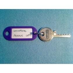 Universal 5 pin padlock reversed bump key