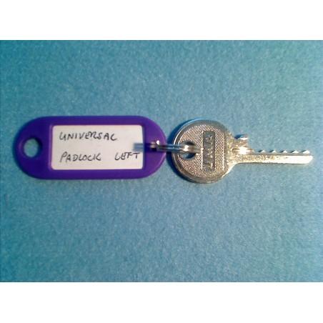 universal padlock left