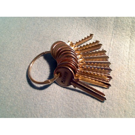 6 pin yale depth and spacer keys