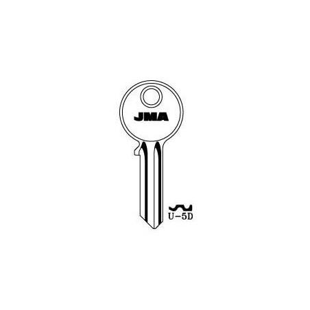 Universal 5 pin key blank, standard profile