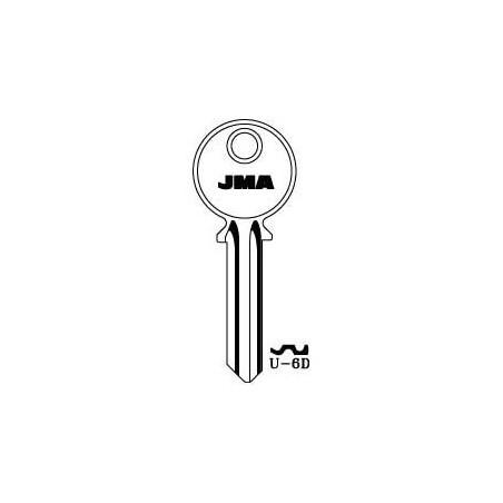 Universal 6 pin key blank, standard profile