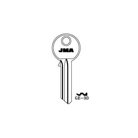 GEGE 6 pin key blank, standard profile