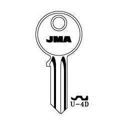 Universal 4 pin key blank, standard profile