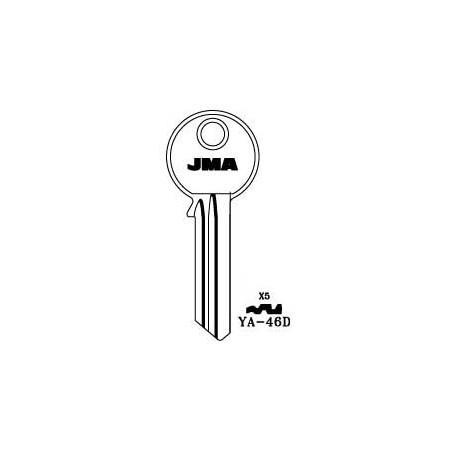 Yale X5, 6 pin key blank, standard profile