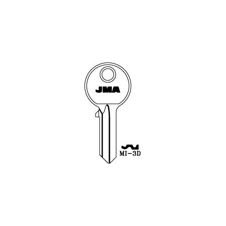 Mila 5 pin key blank, standard profile