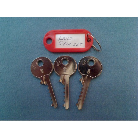 LSH Laird 5 pin bump key set