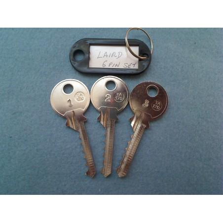Laird 6 pin bump key set