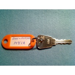 Lowe & Fletcher Master 81 series key (81A)