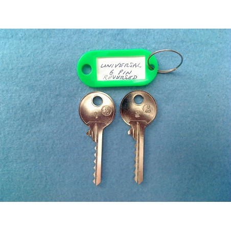 Reversed universal 6 pin bump key set (2 x left keys)