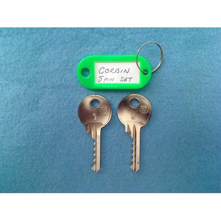 Corbin bump key set, 5 pin