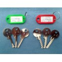 Both sets of 5 pin universal bump keys (6 keys)