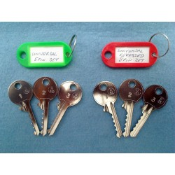 Full set of 5 pin universal bump keys (6 keys and 5 dampeners)