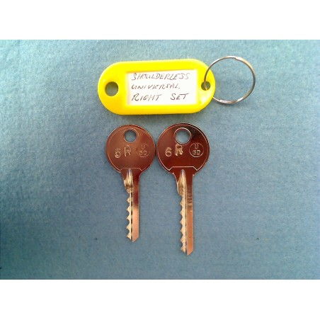 shoulderless universal 5 & 6 pin bump keys