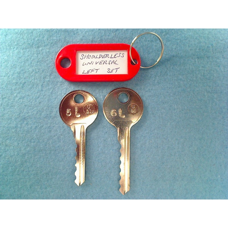 shoulderless universal 5 & 6 pin bump keys (Left)