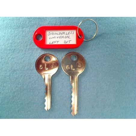 shoulderless universal 5 & 6 pin bump keys (Left)