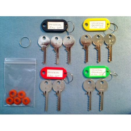 universal bump key set, 10 keys + 5 dampeners