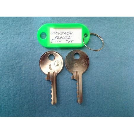 Universal padlock bump key MEDIUM set