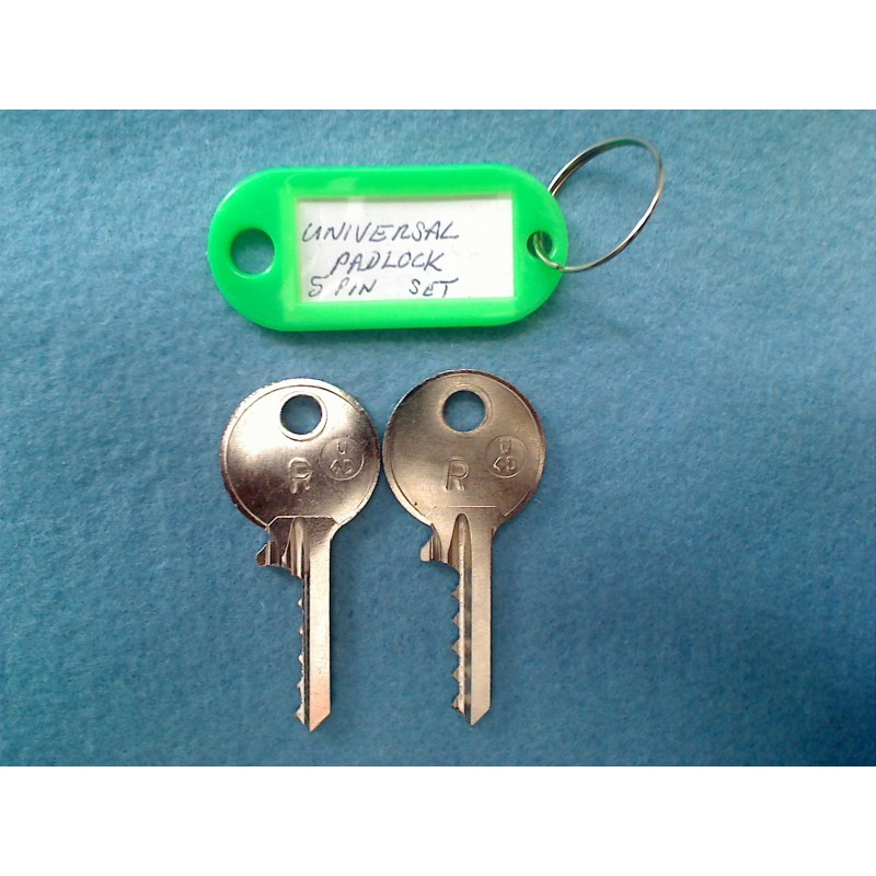 Universal padlock bump key MEDIUM set