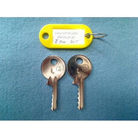 Universal padlock RIGHT MEDIUM set