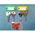Both sets of Universal padlock LOW & MEDIUM keys