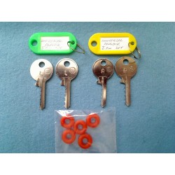 Both sets of Universal padlock Low & Medium keys +5 dampeners