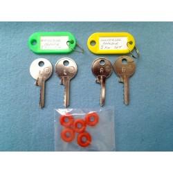 Both sets of Universal padlock LOW & MEDIUM keys