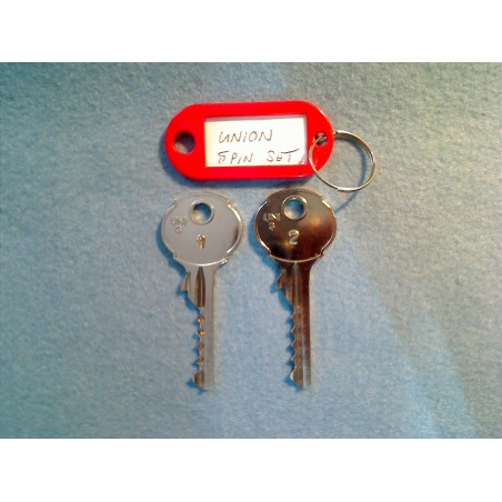 Union 5 pin bump key set
