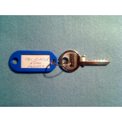 Tri-circle 265, 266, 366, reversed 6 pin padlock bump key