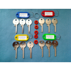 Ultimate universal bump key set, 12 keys + 5 dampeners tag set