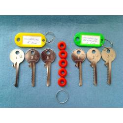 Both sets of 6 pin universal bump keys (4 keys)