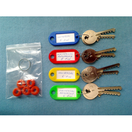 universal bump pair key sets, 8 keys + 5 dampeners