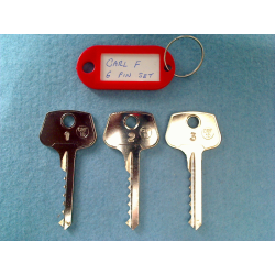 CarlF 6 pin bump key set