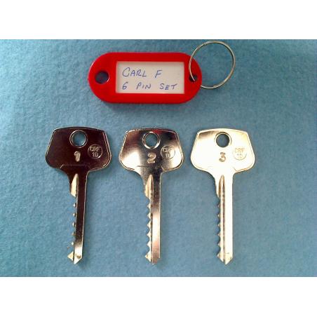 CarlF 6 pin bump key set