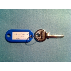Tri-circle 265, 266, 366, reversed 6 pin padlock bump key set (3 keys)
