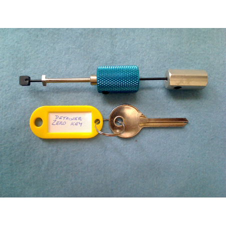 Disc detainer padlock pick and zero key