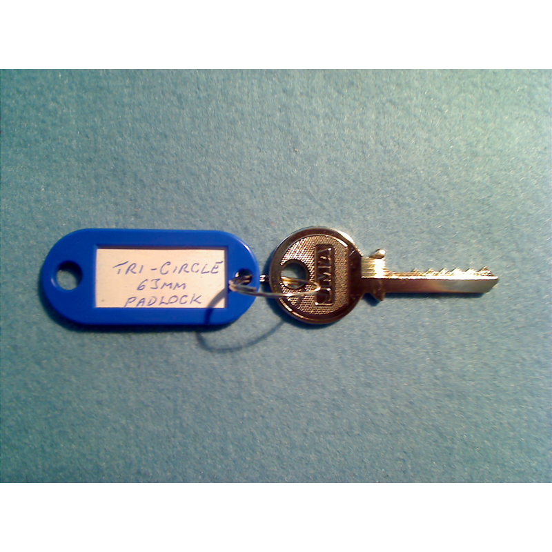 Tri-circle 6 pin padlock bump key