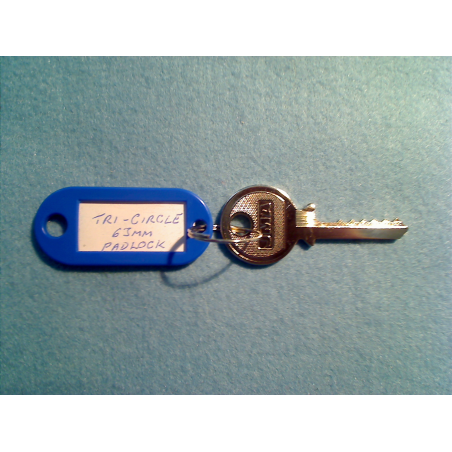 Tri-circle 265, 266, 366, 6 pin padlock bump key