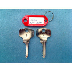 Yale Anti Bump, 6 pin bump top up key set (2 keys)