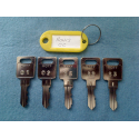 Ronis CC master key set (5 keys)