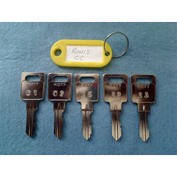 Ronis CC master key set (5 keys)