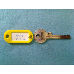 Asec 6 pin bump key