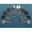 5 pin yale depth and spacer keys