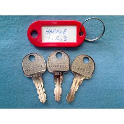 Hafele set of three master keys