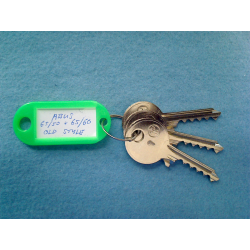 Abus 65/50 and 65/60 old style keyway bump keys FULL SET (3 keys).