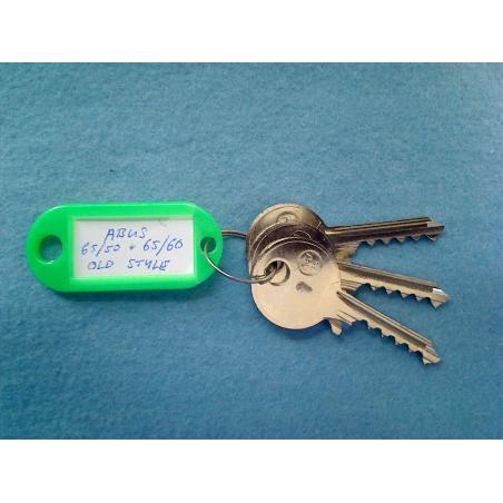 Abus 65/50 and 65/60 old style keyway bump keys FULL SET (3 keys).