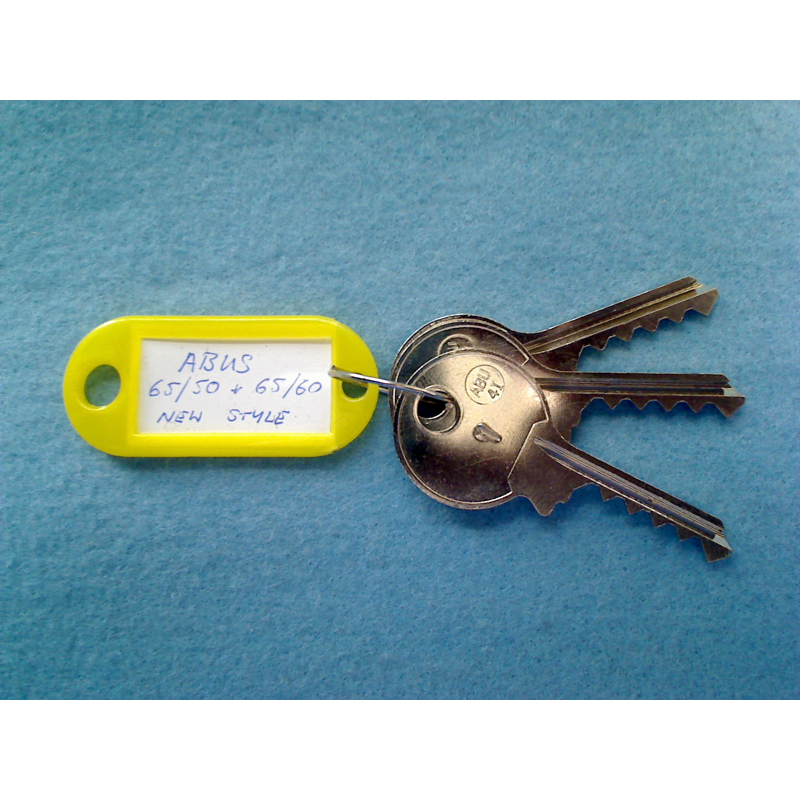 Abus 65/50 and 65/60 new style keyway bump keys FULL SET.