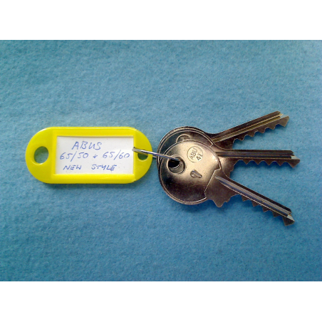 Abus 65/50 and 65/60 new style keyway bump keys FULL SET (3 keys).