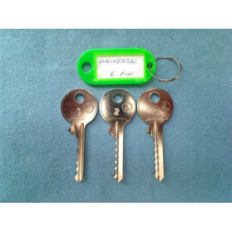 Universal 6 pin bump key set (3 x right keys)